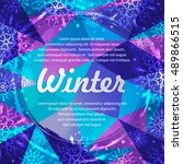 winter abstract banners with... | Shutterstock .eps vector #489866515