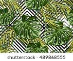 beautiful seamless vector... | Shutterstock .eps vector #489868555