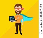 vector flat illustration of a... | Shutterstock .eps vector #489881524