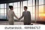 business partners handshake .... | Shutterstock . vector #489886717