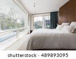 luxurious interior designed... | Shutterstock . vector #489893095