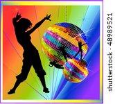 vector illustration of disco | Shutterstock .eps vector #48989521