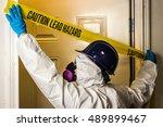 environmental abatement worker... | Shutterstock . vector #489899467