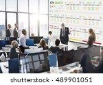 stock exchange trading forex... | Shutterstock . vector #489901051