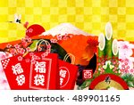 rooster's first sell fuji new... | Shutterstock .eps vector #489901165