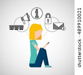 person user social media icons... | Shutterstock .eps vector #489910021