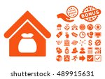 harvest warehouse icon with... | Shutterstock .eps vector #489915631
