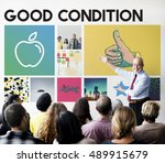 apple nutrition healthcare well ... | Shutterstock . vector #489915679