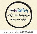 calligraphy  mediation make... | Shutterstock .eps vector #489916444
