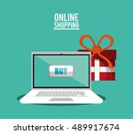 shopping online ecommerce and... | Shutterstock .eps vector #489917674