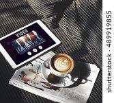 video entertainment browsing... | Shutterstock . vector #489919855