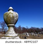 Closeup Of Urn Shaped Cemetery...