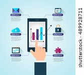 business illustration | Shutterstock .eps vector #489928711