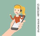 customer service. customer... | Shutterstock .eps vector #489928915