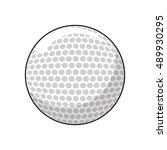ball of golf sport design | Shutterstock .eps vector #489930295