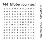 144 globe icon set | Shutterstock .eps vector #489935521