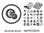 euro credit icon with bonus... | Shutterstock .eps vector #489935839