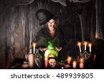 Attractive Witch Conjures In...