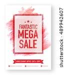 fantastic mega sale  poster ... | Shutterstock .eps vector #489942607