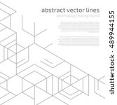 vector abstract boxes... | Shutterstock .eps vector #489944155