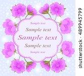 invitation or wedding card... | Shutterstock .eps vector #489945799