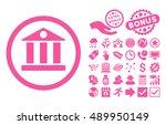 bank pictograph with bonus...   Shutterstock .eps vector #489950149