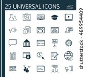universal icons set on online...