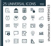 universal icons set on notebook ...