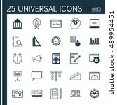 universal icons set on...