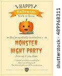 happy halloween background | Shutterstock .eps vector #489968311