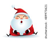 santa claus sitting on the floor | Shutterstock .eps vector #489973621