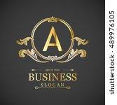 a letter logo  monogram design...   Shutterstock .eps vector #489976105