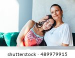 love of mother and daughter | Shutterstock . vector #489979915