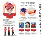 ischemic stroke infographics | Shutterstock .eps vector #489984109