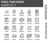 thin line flat icons pack for... | Shutterstock .eps vector #489985609