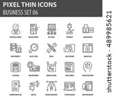 thin line flat icons pack for... | Shutterstock .eps vector #489985621