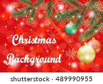 christmas holiday background... | Shutterstock .eps vector #489990955