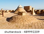 blur in iran antique palace and ...   Shutterstock . vector #489992209