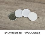white badges front and back... | Shutterstock . vector #490000585