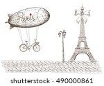 Vintage Poster Of Paris Theme...