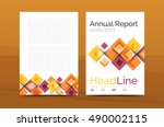 set of front and back a4 size... | Shutterstock .eps vector #490002115