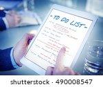 calendar agenda event meeting... | Shutterstock . vector #490008547
