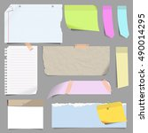 blank note paper vector set of...   Shutterstock .eps vector #490014295