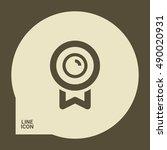 medal isolated minimal single... | Shutterstock .eps vector #490020931