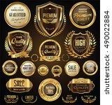golden sale shields laurel... | Shutterstock .eps vector #490022884
