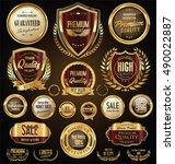 golden sale shields laurel... | Shutterstock .eps vector #490022887