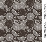 vector fruits background.hand...   Shutterstock .eps vector #490027504