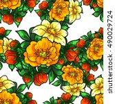abstract elegance seamless... | Shutterstock . vector #490029724