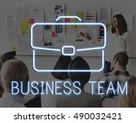 business briefcase confidential ... | Shutterstock . vector #490032421
