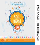 diwali festival offer poster... | Shutterstock .eps vector #490034425